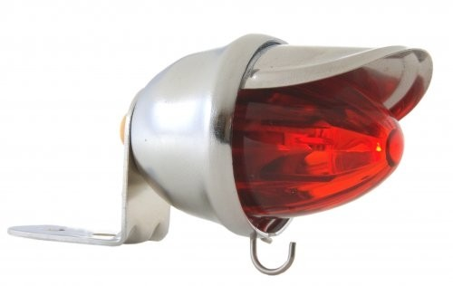 Tail Light Baby Bee, chrome, LED red
