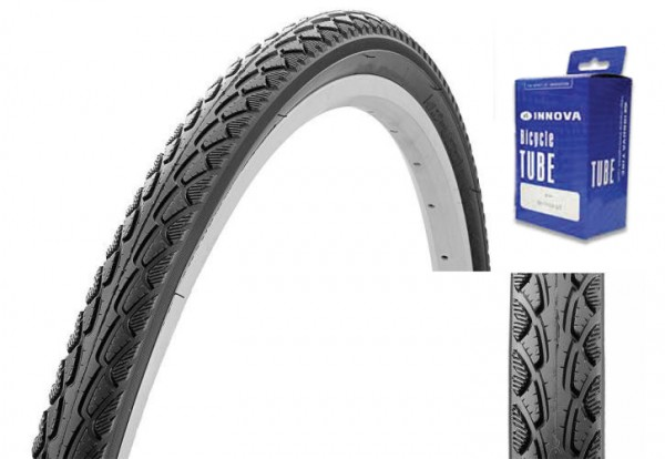 Trekking City Bike Tire 28 x 1.75 + Tube, with puncture protection