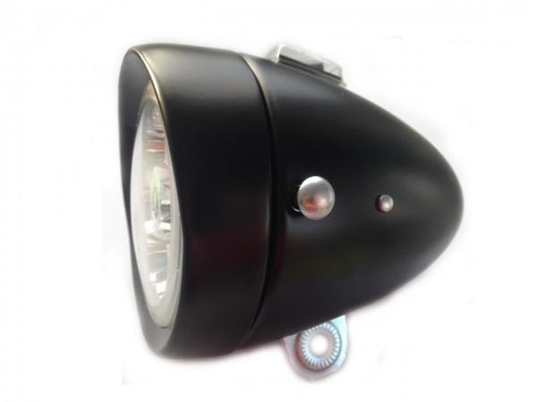 6 LED Battery Frontlamp, 80 mm black