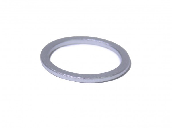 Spacer 2 mm 1 1/8 x 2 mm, alu silver