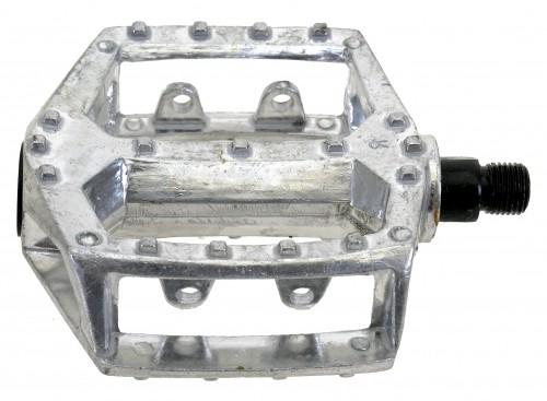Aluminium Pedals, silver, 9/16
