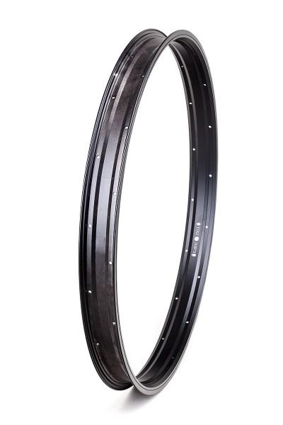 Alu rim 27,5 inch 57 mm 32 holes black matte
