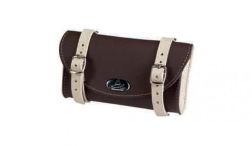 Saddle Bag, dark bicolor darkbrown / creme
