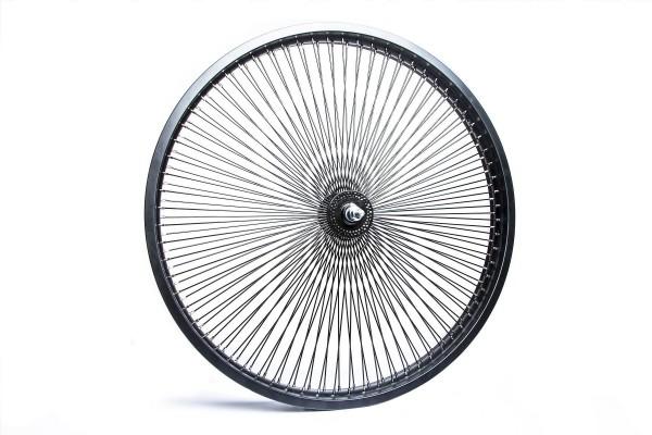 140 Spokes 26 inch. Front Wheel Black Matt
