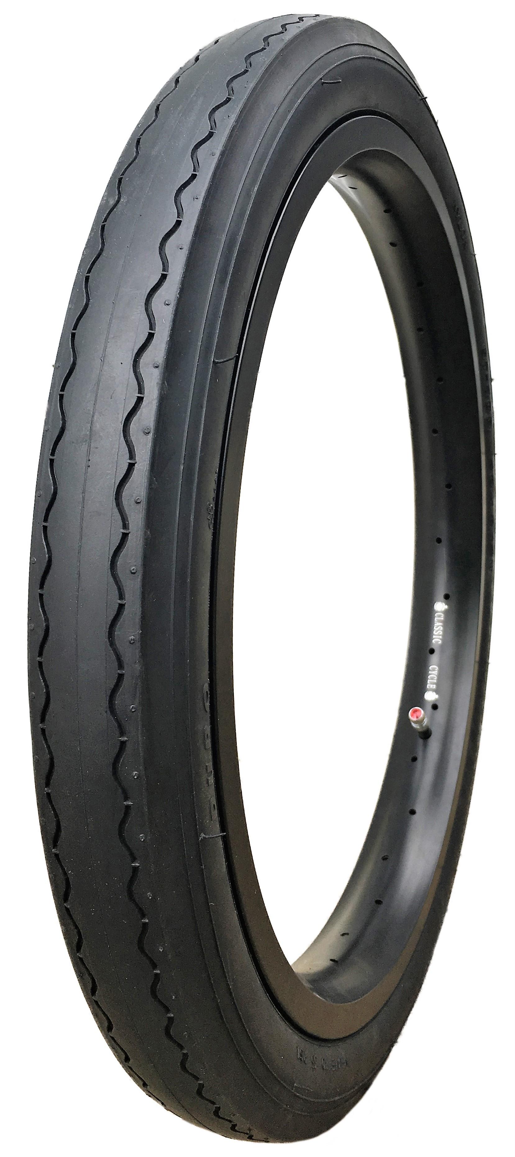 "New Bicycle Schwinn Retro 20/"" Stingray Rear Slick /& Front Black Wall Tires Set"