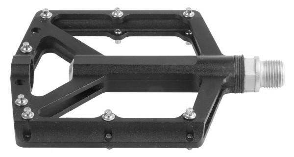 Flat Aluminium CNC Pedals, black, 9/16