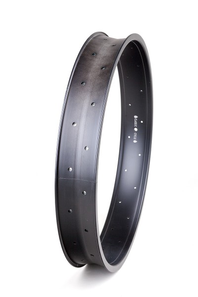 Alu rim 24 inch 82 mm 32 holes black matte