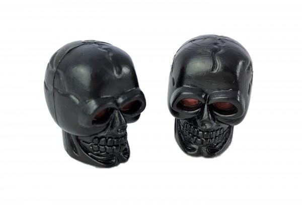 Valvecaps Skull black with red eyes