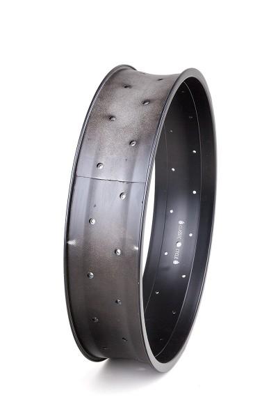 Alu rim 20 inch 102 mm high black matte