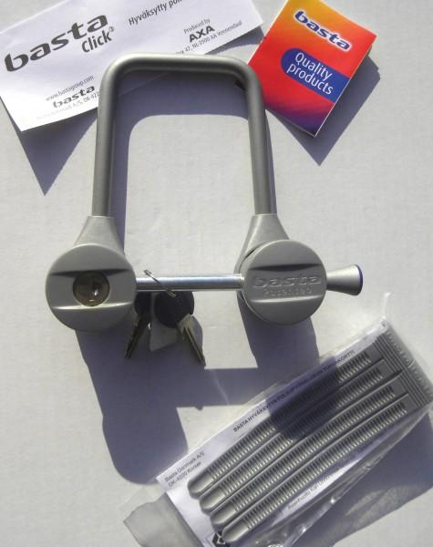 Lock Basta Click III silvergrey