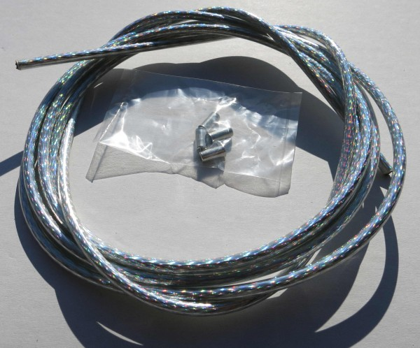 Outer Cable Housing Silver / Rainbow Shining 2,50 m 5 mm
