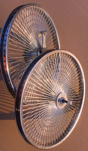 140 Spokes 20 inch Wheel Set, chrome