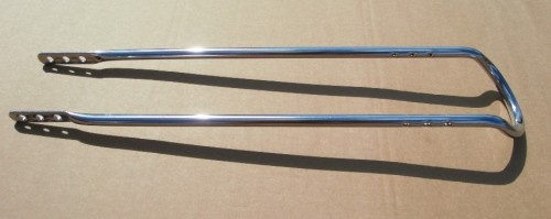 Sissybar 70 cm chrome plated