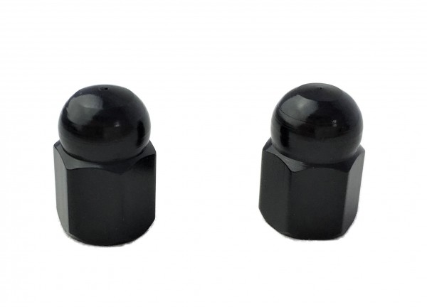 Valve Caps Cap / Domed Nut, black