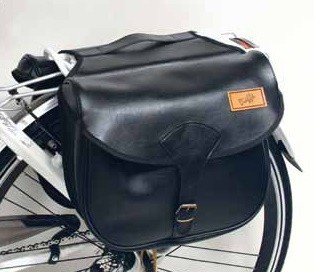 Black Carrierbag / SaddleBag, Single buckle