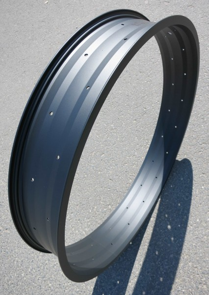 Aluminium Rim 102 24 inch. single wall black matte