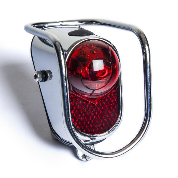 Classic Cycle Tiger Eye Rearlight with Bumper Retro LED CP and red lense