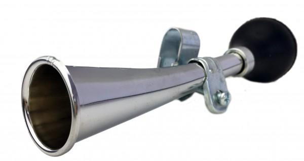 Rubber Bulb Horn slightly curved, chrome