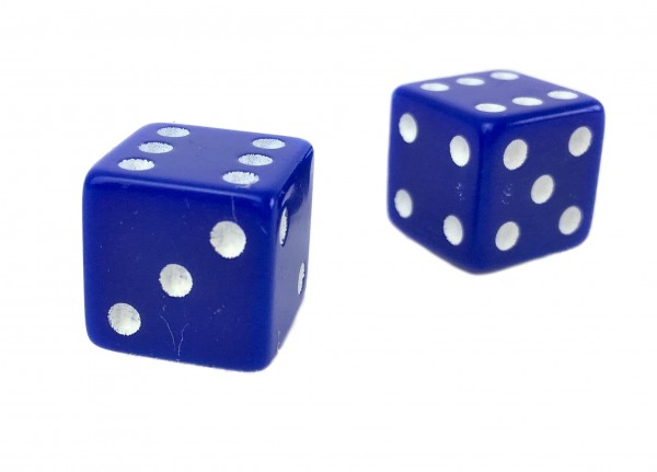 Valve Caps Dice, blue