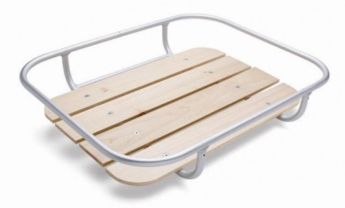 Front Tray Alu and Wood for 24, 26, 28 inch
