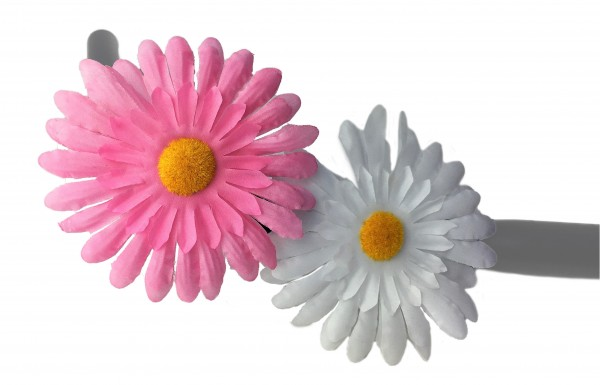 Handlebar flowers Painted Daisy pink and white