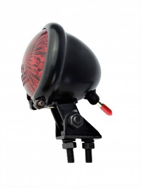 Bates style taillight LED red, black matte